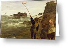 Caught By The Tide Greeting Card