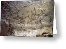 Cave Art - Mammoth And Ibexes Greeting Card