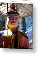 Cave Buddha Greeting Card by Adrian Evans