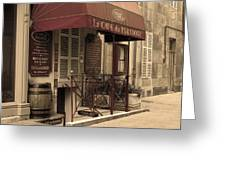 Cave Du Paradoxe Wine Shop In Beaune France Greeting Card