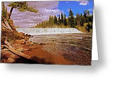 Cave Falls Greeting Card