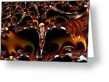 Cave Of The Garnet Skulls Greeting Card
