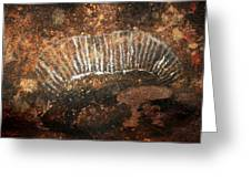 Cave Painting Of A Witchittey Grub Greeting Card