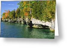 Cave Point Cove Greeting Card
