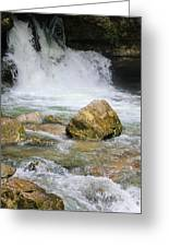 Cave Water Fall Greeting Card