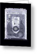 Cd Drive, Simulated X-ray Greeting Card by Mark Sykes