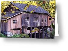 Cedar Creek Grist Mill In Autumn Greeting Card