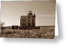Cedar Island Lighthouse Greeting Card