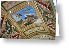 Ceiling Inside Venetian Hotel Greeting Card