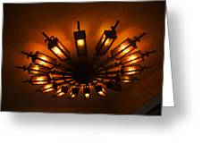 Ceiling Light At One O Clcok Greeting Card