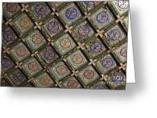 Ceiling Tiles In The Forbidden City Greeting Card