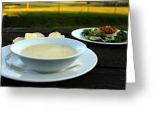 Celery Root Soup And Salad Greeting Card