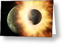 Celestial Impact, Artwork Greeting Card