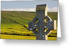 Celtic Cross In A Cemetery Greeting Card