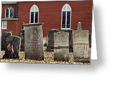 Cemetery And Church Greeting Card