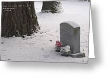 Cemetery In Winter Greeting Card