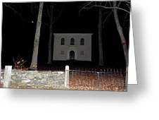 Cemetery On A Full Moons Night Greeting Card