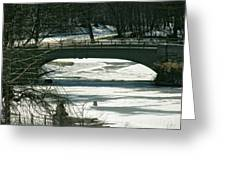 Central Park Bridge-winter Greeting Card