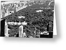 Central Park Bw3 Greeting Card