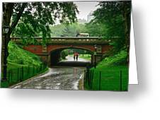 Central Park In The Rain Greeting Card