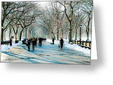 Central Park In Winter Greeting Card