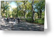 Central Park Mall Greeting Card by Rob Hans