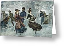 Central Park, Nyc, 1877 Greeting Card