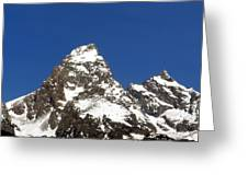 Central Teton Mountain Peak Greeting Card