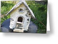 Ceramic Birdhouse Greeting Card