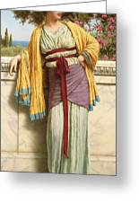 Cestilia Greeting Card by John William Godward