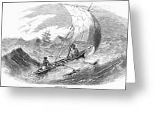 Ceylon: Outrigger, 1860 Greeting Card