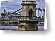 Chain Bridge  Budapest Greeting Card