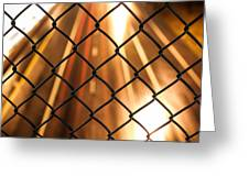 Chain-link And Light Lines Greeting Card