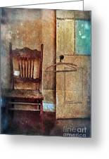 Chair By Open Door Greeting Card