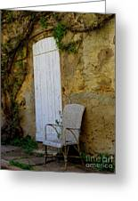 Chair By The White Door Greeting Card