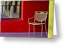 Chair On The Balcony Greeting Card
