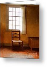 Chair Under Window Greeting Card