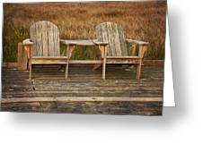 Wooden Chairs Greeting Card