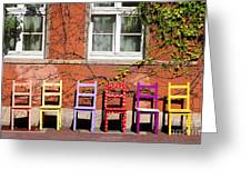 Chairs At Hamlyn Greeting Card