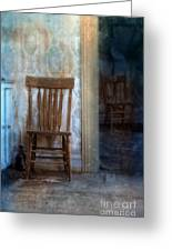 Chairs In Rundown House Greeting Card