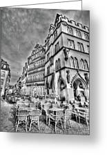 Chairs In The Square Greeting Card