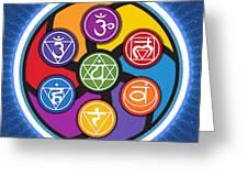 Chakra Circle Greeting Card