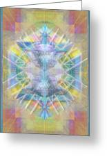 Chalice Of Vortexes Chalicell Rings On Renaissance Back Greeting Card