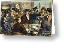 Challenging A Voter, 1872 Greeting Card