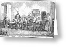 Champagne Production, 1855 Greeting Card