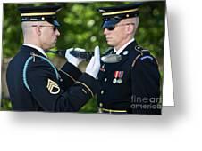 Changing Of Guard At Arlington National Greeting Card
