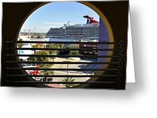 Channelside Tampa Art Deco Greeting Card