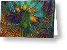 Chaotic Colour Greeting Card