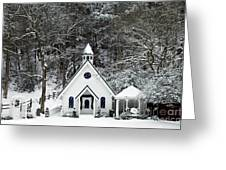 Chapel In The Snow - D007592 Greeting Card by Daniel Dempster