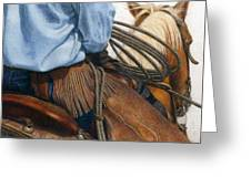 Chaps Greeting Card by Pat Erickson
